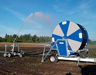 B200 evo Irrigator on the field
