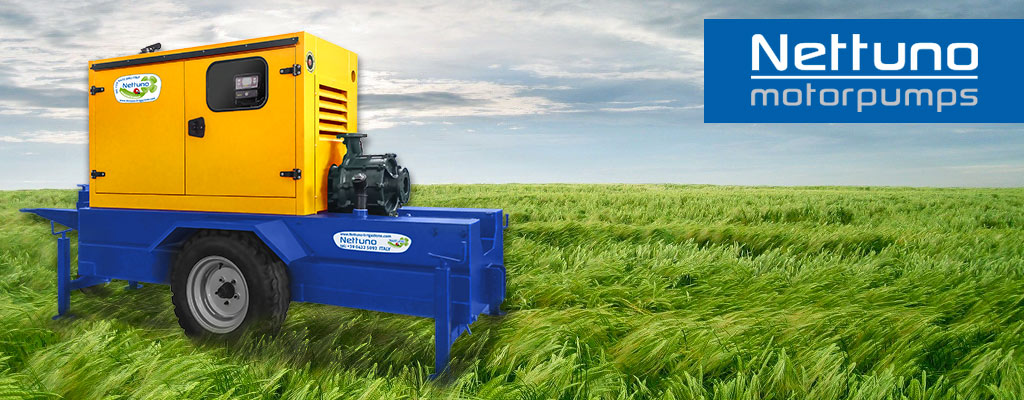 Nettuno Irrigation: Hose Reels, Motorpumps, PTO driven Generators