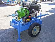 Cyclone motorpump on the field